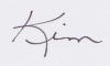 Kim's first name signature