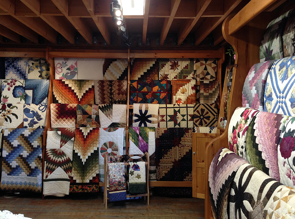 Just a few quilts to choose from.