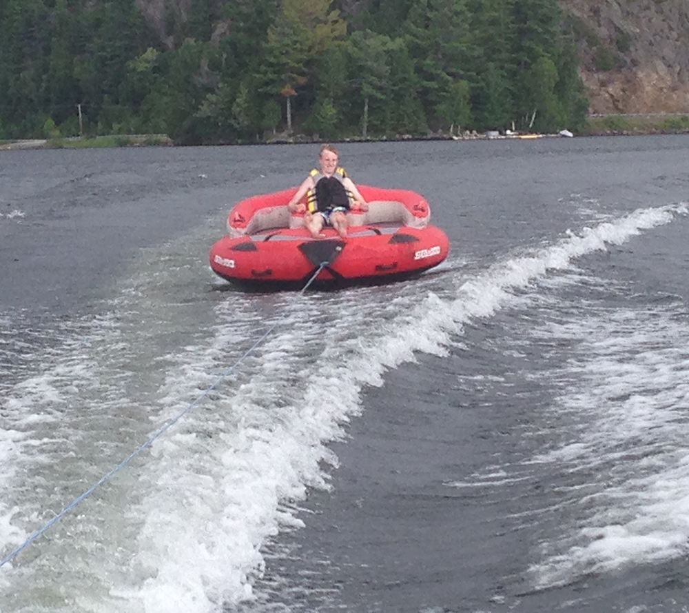 Enjoying some tubing.