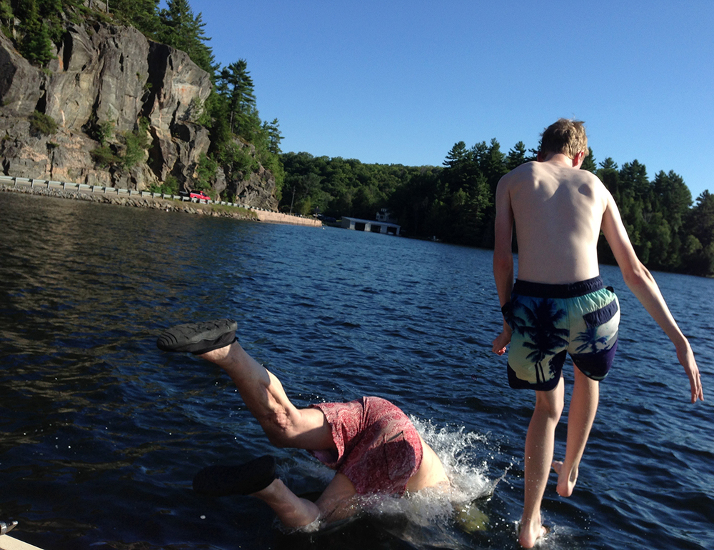 Swimming in Lake Rousseau, Ontario