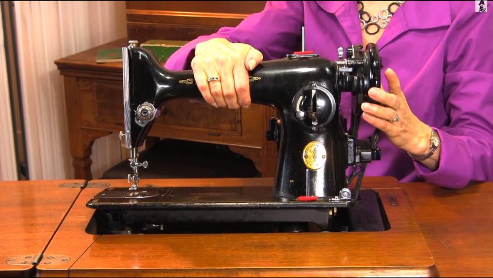 large harp sewing machine