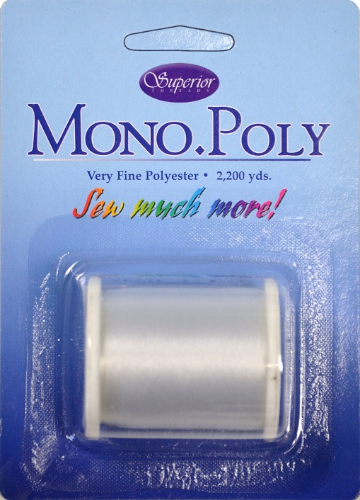 Love Superior Thread's MonoPoly thread! Photo courtesy of www.superiorthreads.com