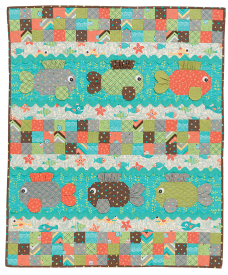 Hook, Line, and Sinker from Sew Sweet Baby Quilts by Kristin Roylance, Martingale, 2015; used by permission. Photography by Brent Kane. All rights reserved.
