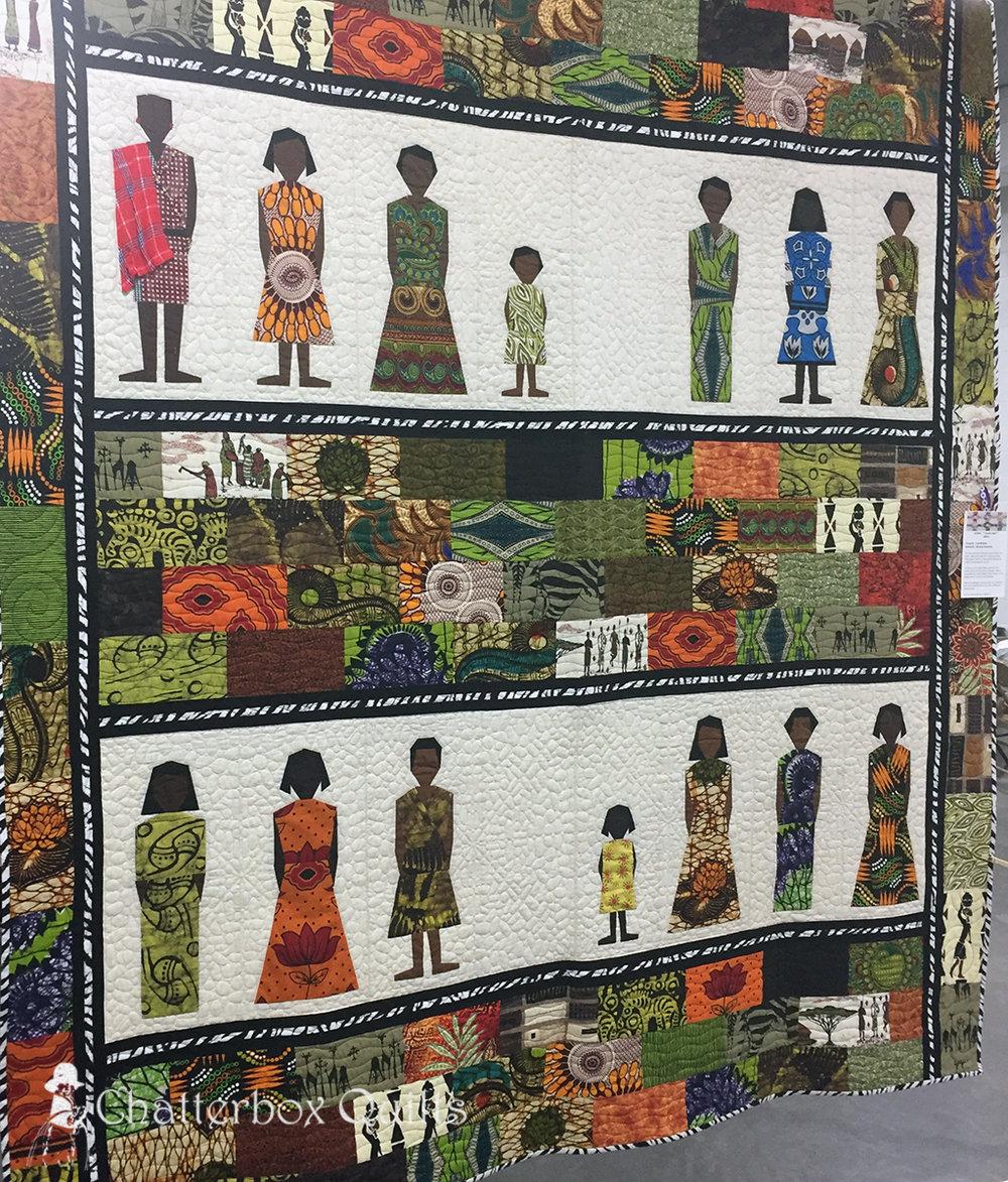Kenya by Julie Mirdoch; quilted by Beverley Stevenson