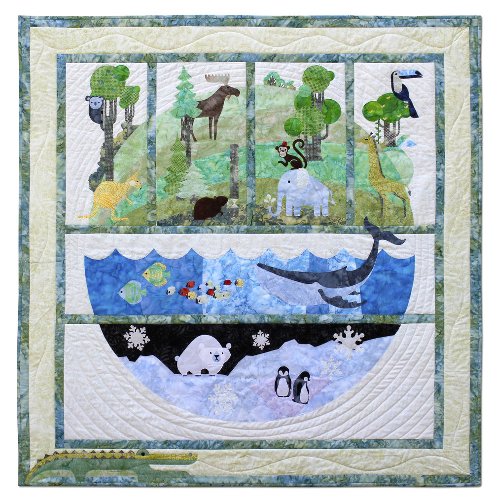 One World  quilt by Keith Phillips of  QuiltFusion