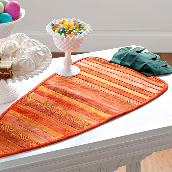 Quilted Carrot Table Runner from Better Homes & Gardens