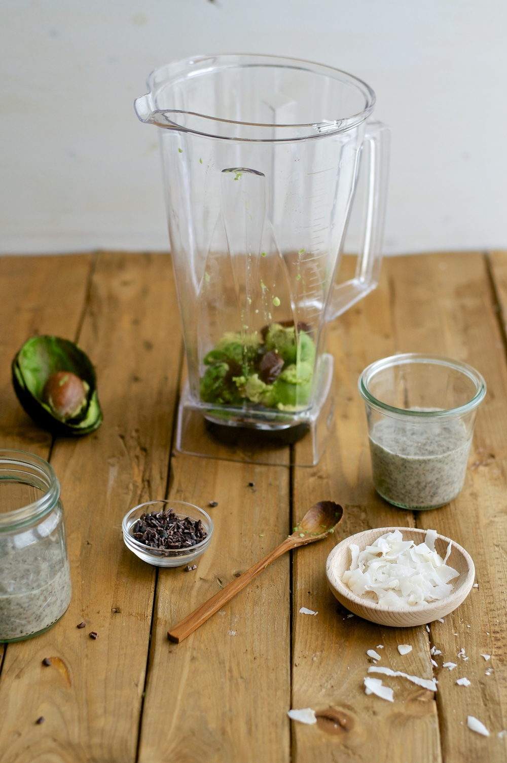 Chia Coconut Pudding with Avocado Vanilla Mousse - Kitchen Hoopla