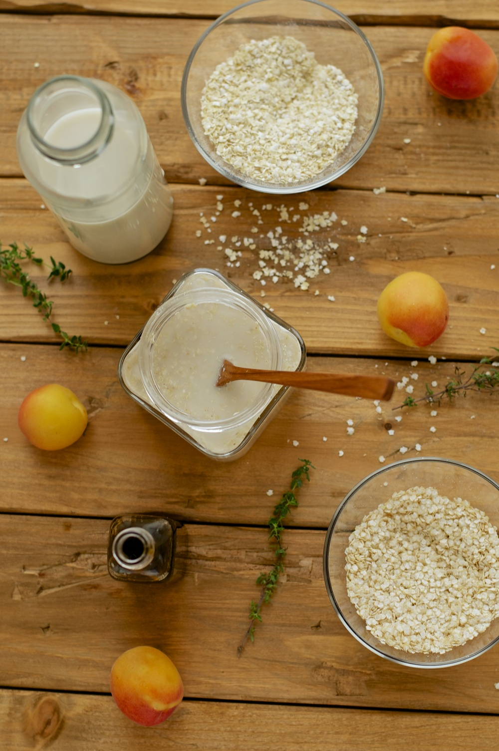 Quinoa-Millet Porridge with Maple & Thyme Glazed Apricots - Kitchen Hoopla