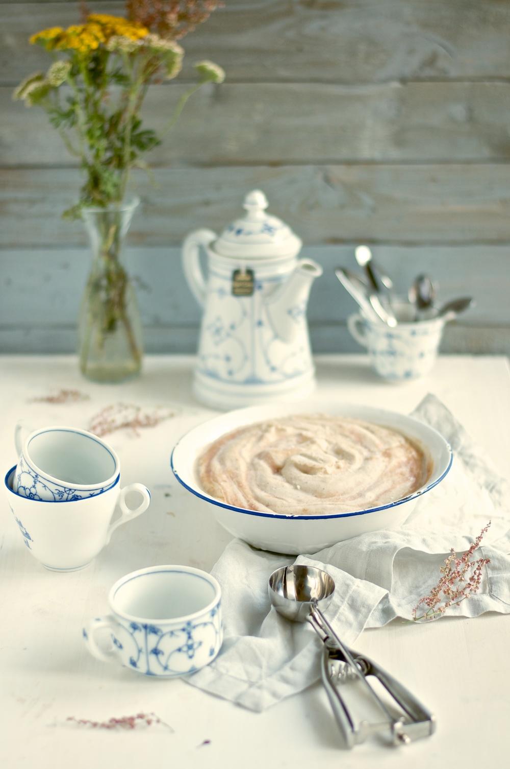 Earl Grey & Roast Peach Ice Cream (Vegan) - Kitchen Hoopla