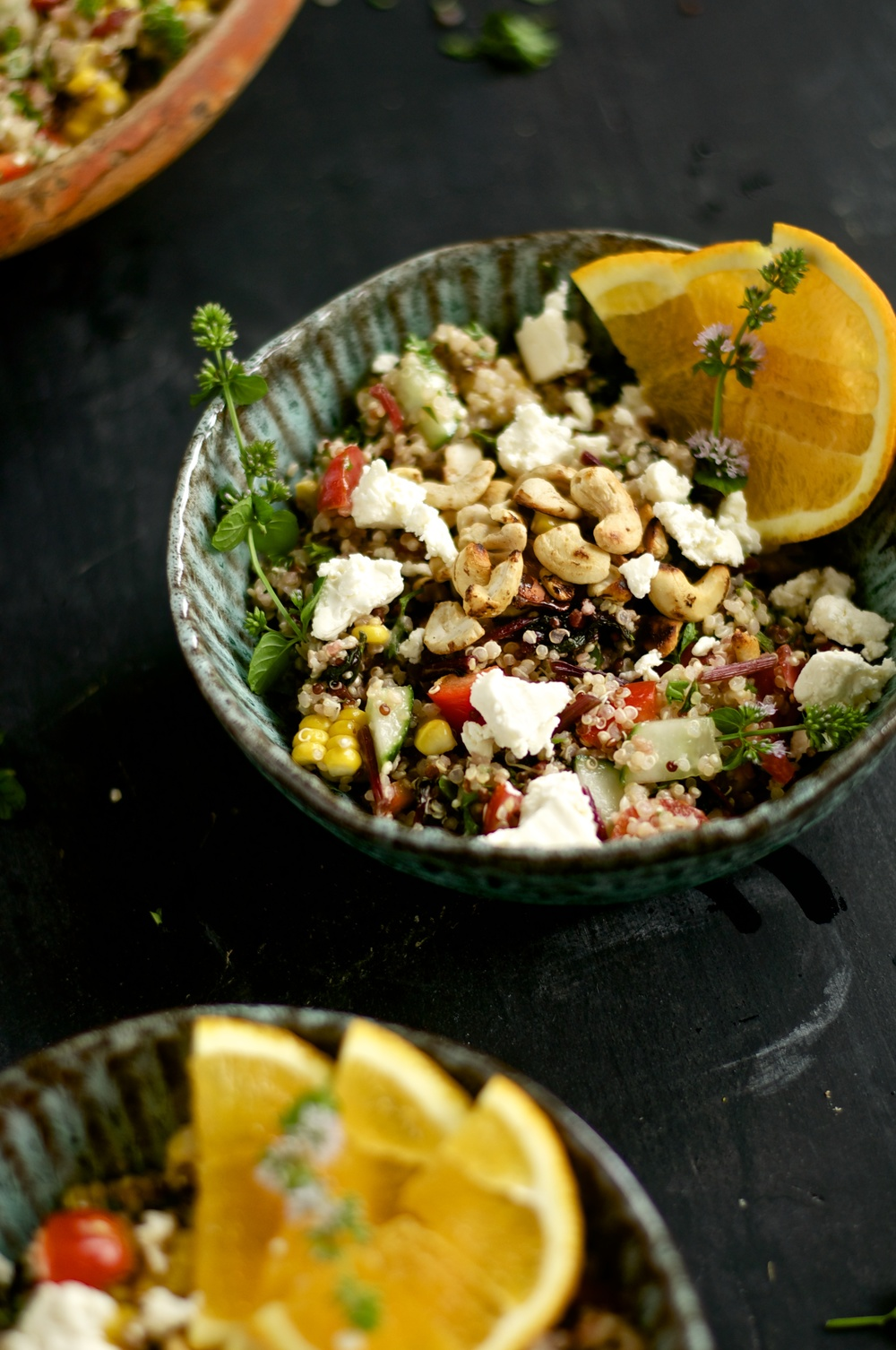 Warm Veggie Quinoa Salad - Kitchen Hoopla