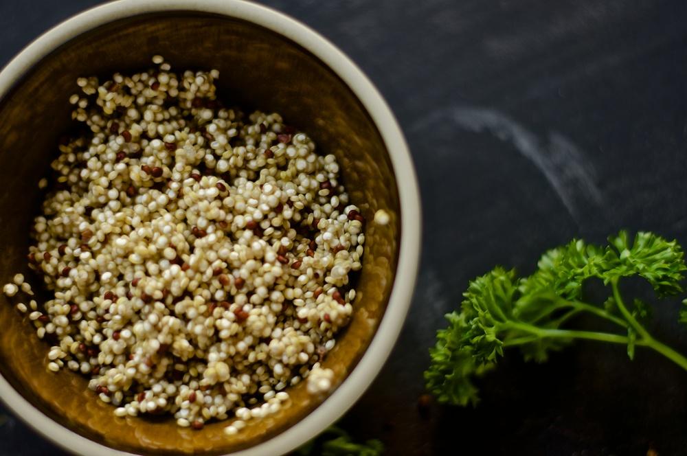 Warm Veggie Quinoa Salad - Kitchen Hoopla