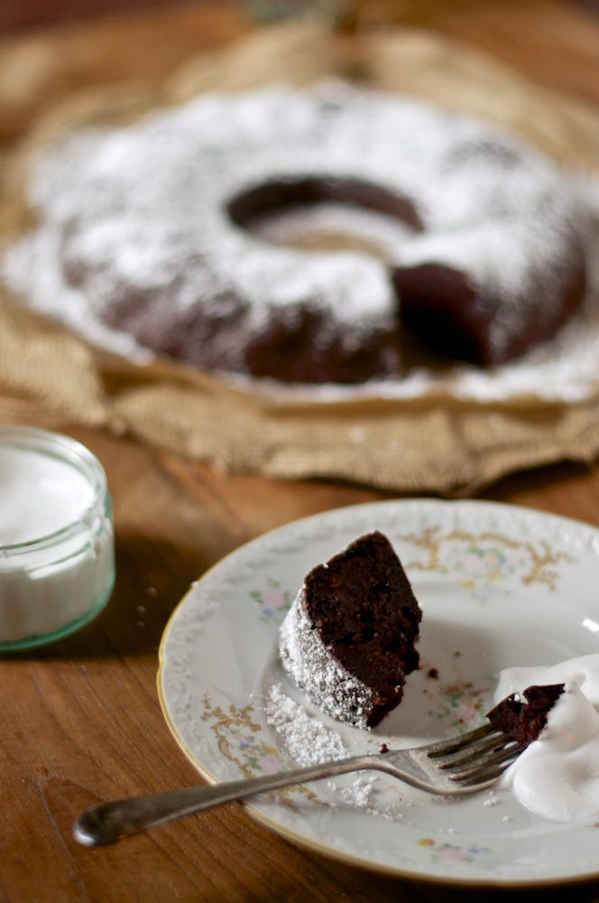 Rosemary-Beetroot and Chocolate Cake - Kitchen Hoopla