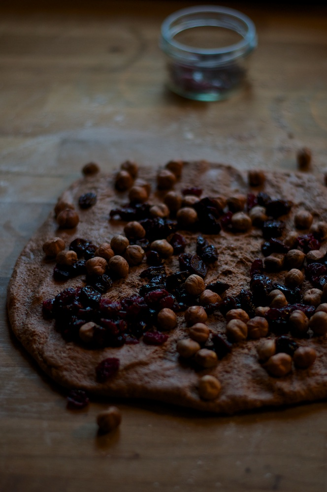 Cacao Sourdough Bread with Hazelnuts and Sour Cherries - Kitchen Hoopla