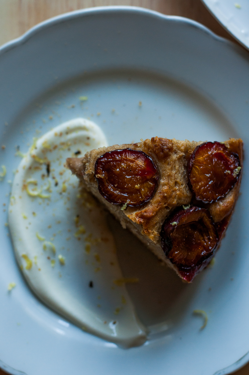 banana bread with plums - Kitchen Hoopla recipes