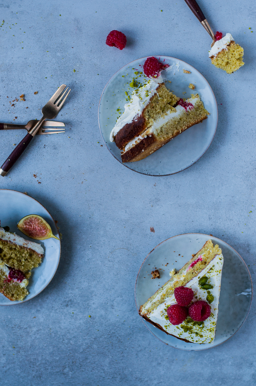 pistachio layer cake - kitchen hoopla