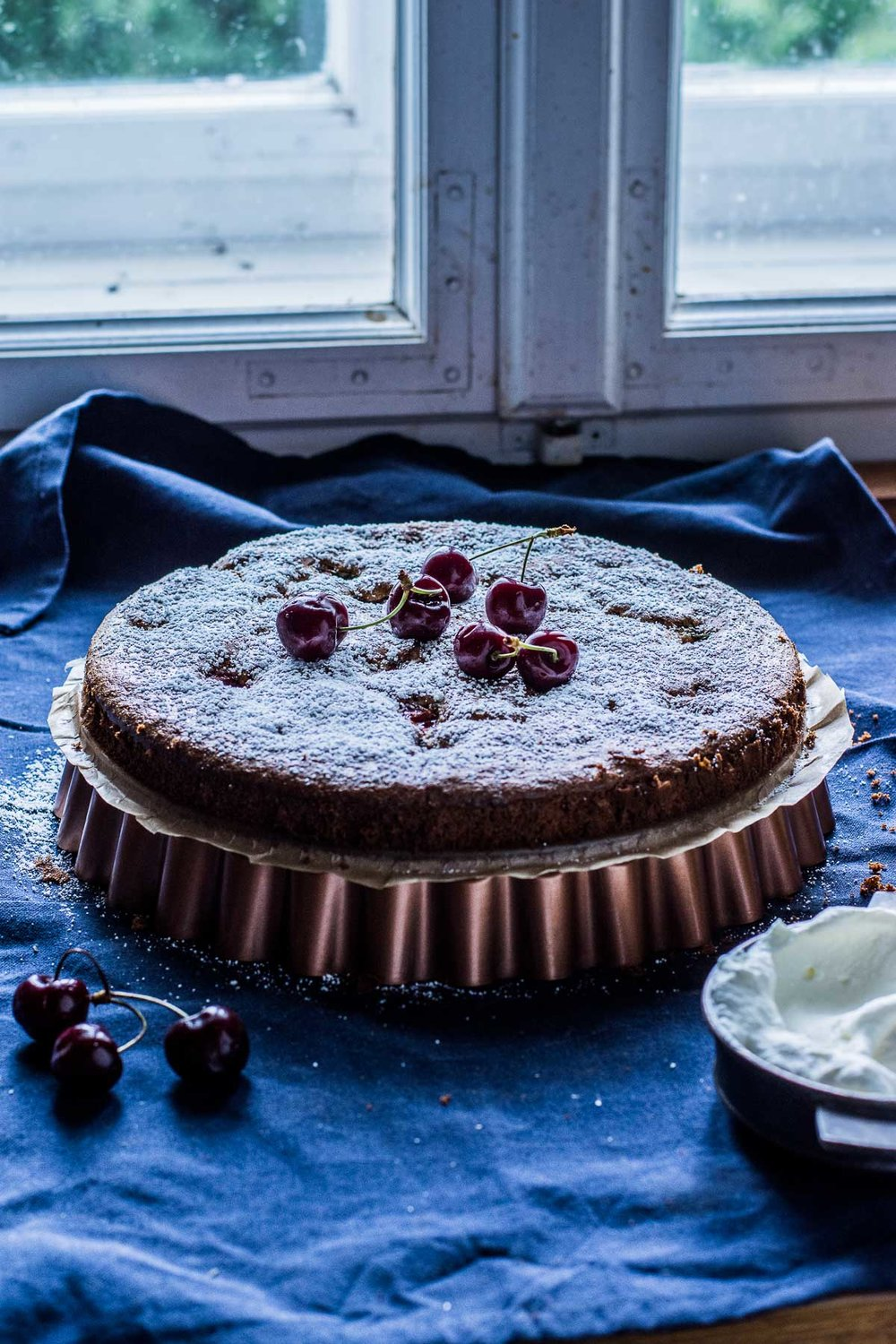 hazelnut cherry cake - kitchen hoopla