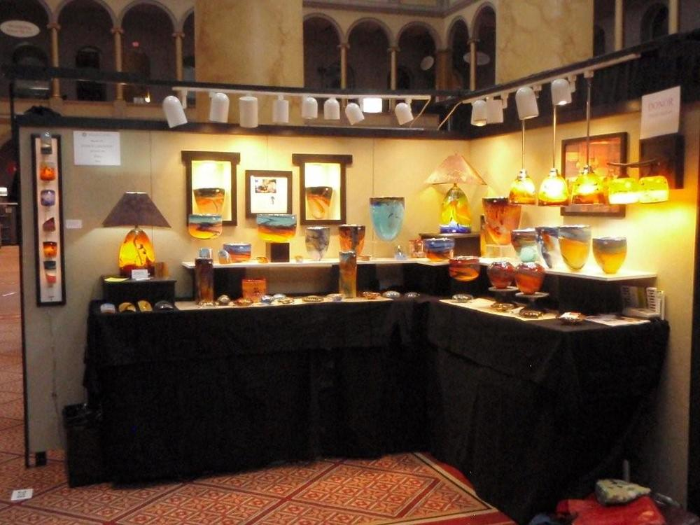 Our booth at the Smithsonian Crafts Show Washington DC