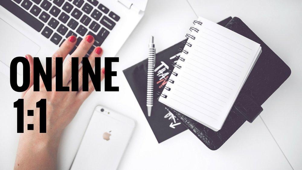 online 1:1 workshop