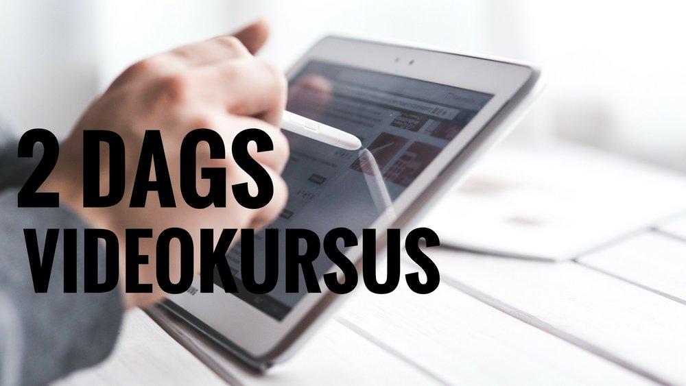 2 dags videokursus i København