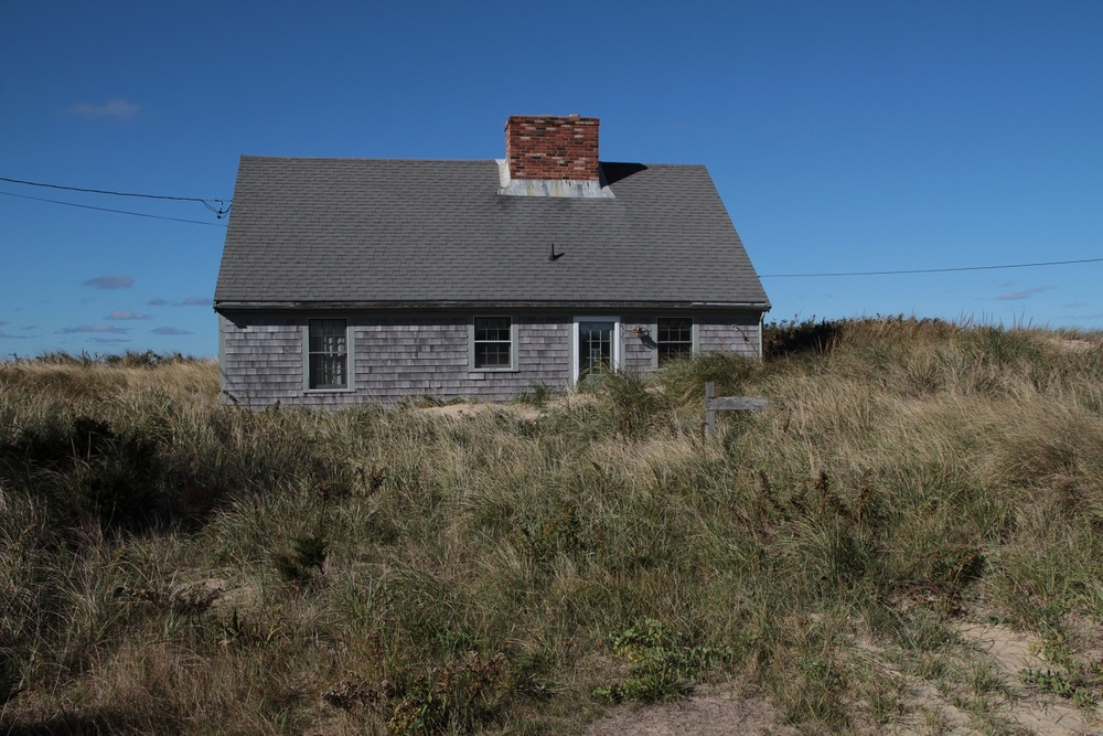 The clients home was buried in a coastal dune, with the sand becoming higher each year.
