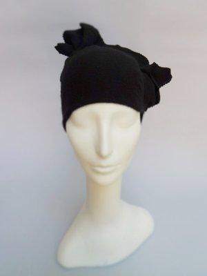 b8b00eeb Eco Turban Beanie in Black Double Layered Cashmere