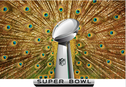 Super Bowl Peacock Feathers