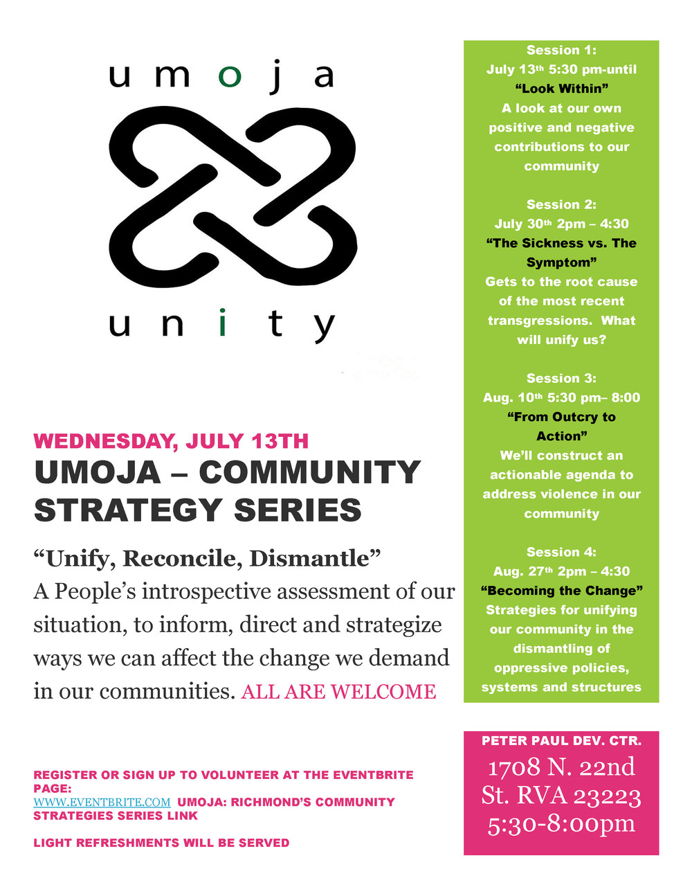 Click here for the UMOJA EVENT FLYER