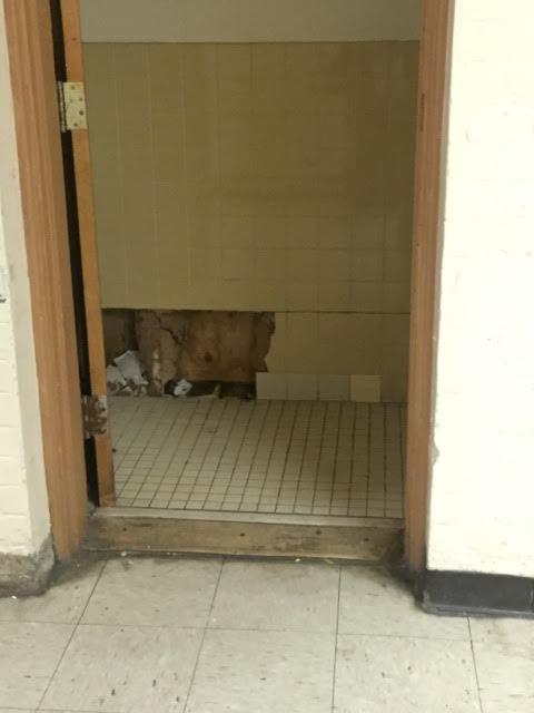 Entrance to boy's bathroom (April 2016)