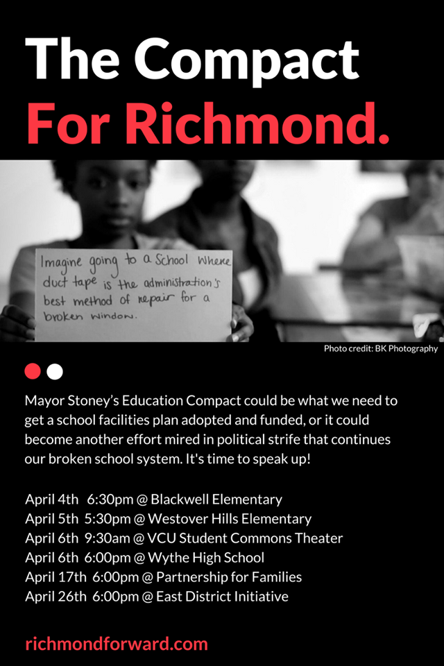 Richmond Forward created poster to communicate public engagement opportunities.