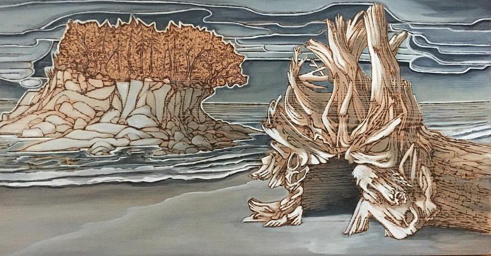 Fallen Bones of a Giant , 2017 © 2016 Karen Blanquart