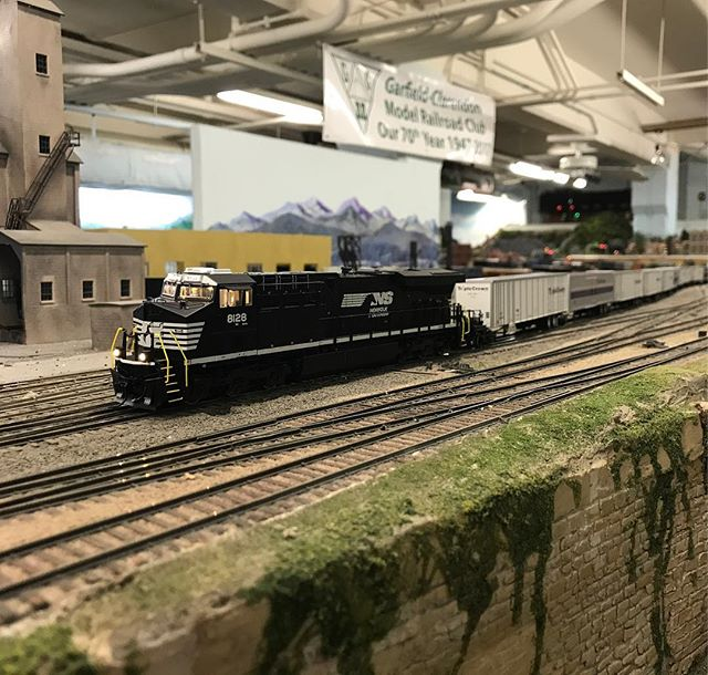 The banner announces our 70th year! Amazing to think how things have changed so much since then. #hoscale #moderailroad #modelrailroading #modeltrain #modeltrains #garfieldcentralrailroad