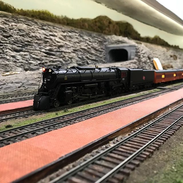 The Milwaukee Road Hiawatha is preparing to embark on its journey. The last of the passengers are rushed to board to leave on time. #hoscale #modeltrain #modeltrains #modelrailroad #modelrailroading #modelbuilding #milwaukeeroad #steamtrains #garfieldcentralrailroad