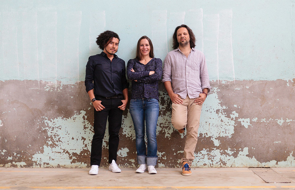 The founders of Les Chardons Bleus Maison de Design are product designer Jose Ernesto Ferrufino, carpenter Mylene Reynaud, and graphic designer Alexandre Breuil.