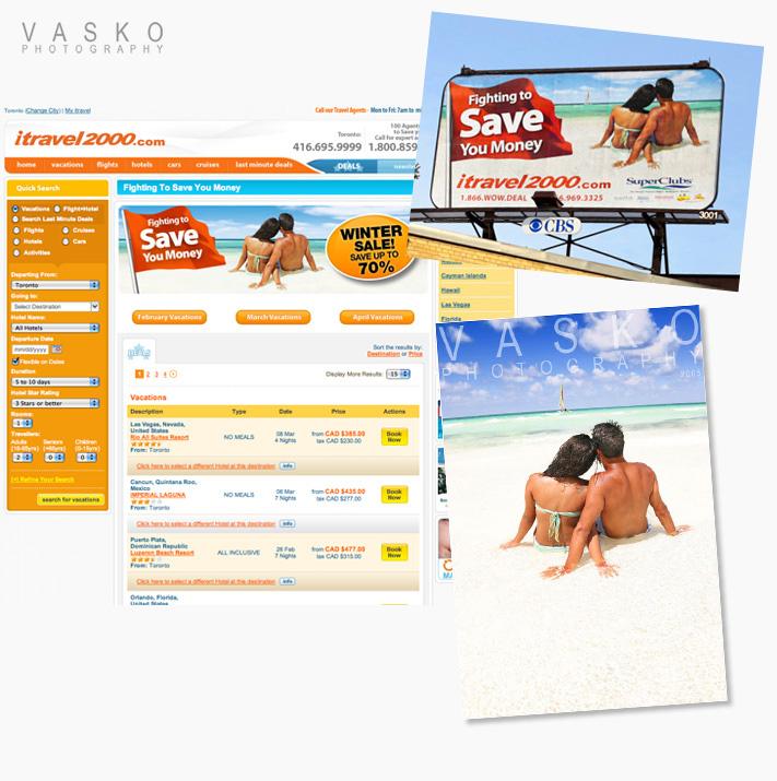 Vasko Photography iTravel2000 ad billboard