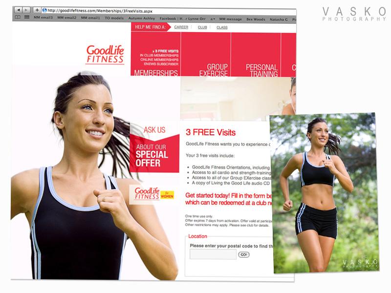 Vasko Photography GoodLife Fitness webpage