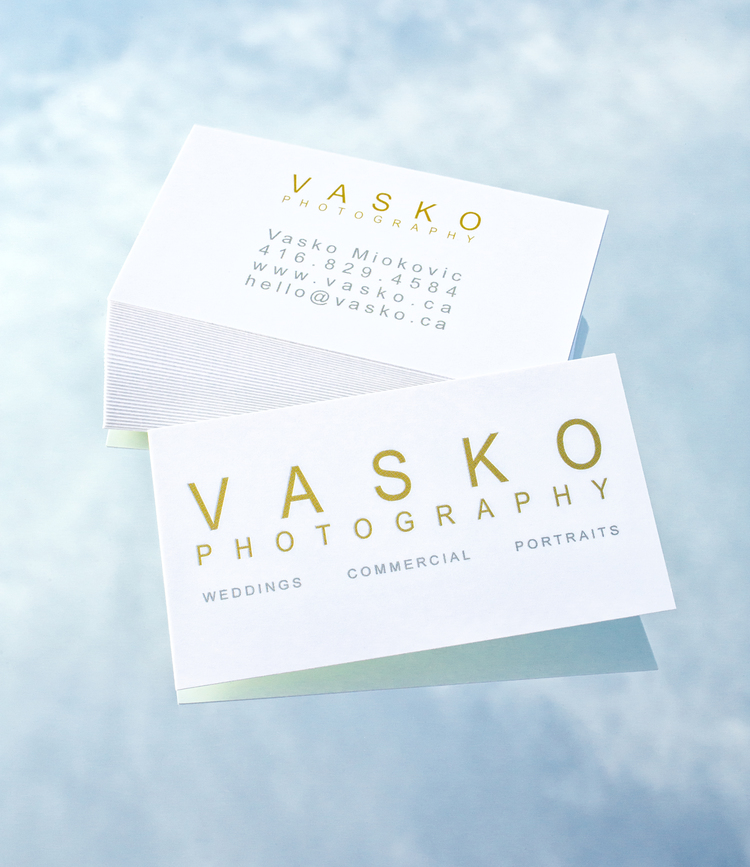 New Business Cards & Postcards — VASKO PHOTOGRAPHY