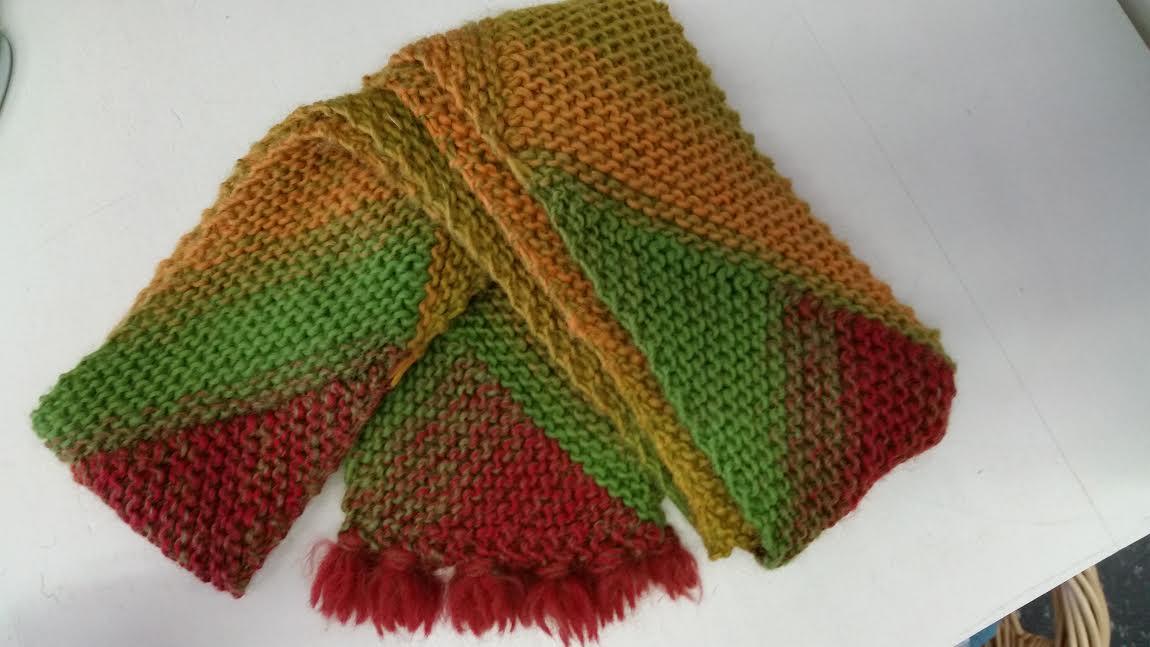 Multidirectional Diagonal Scarf Yarn