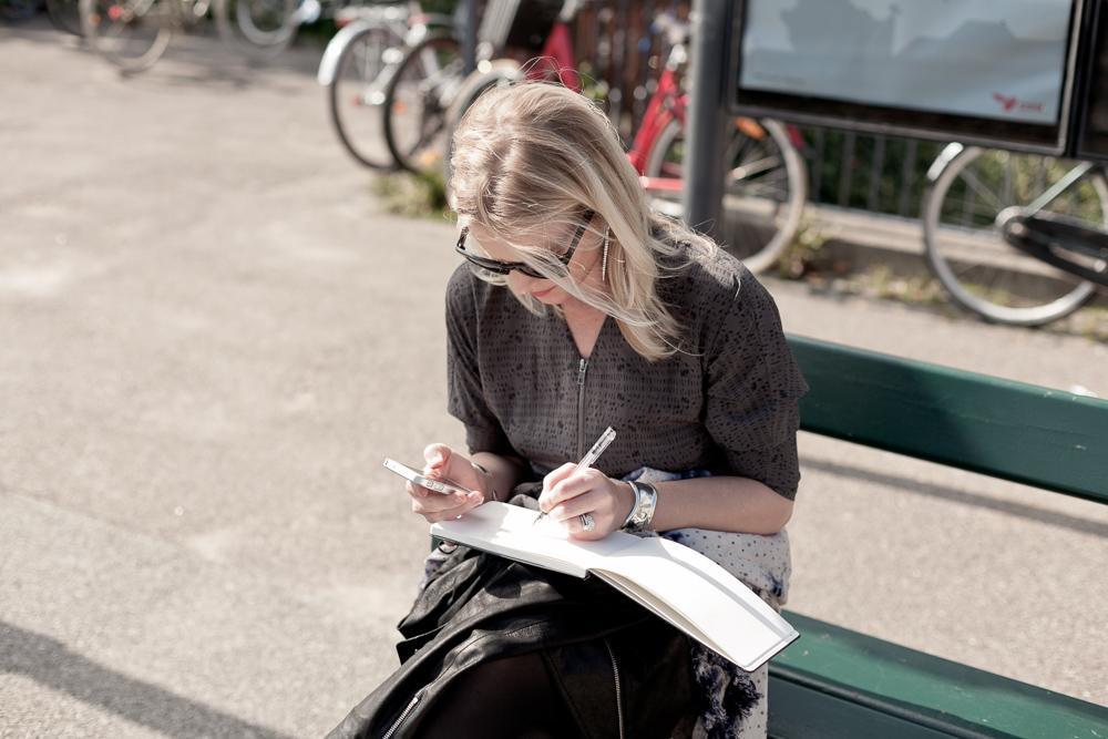 Sketching in Copenhagen, Denmark