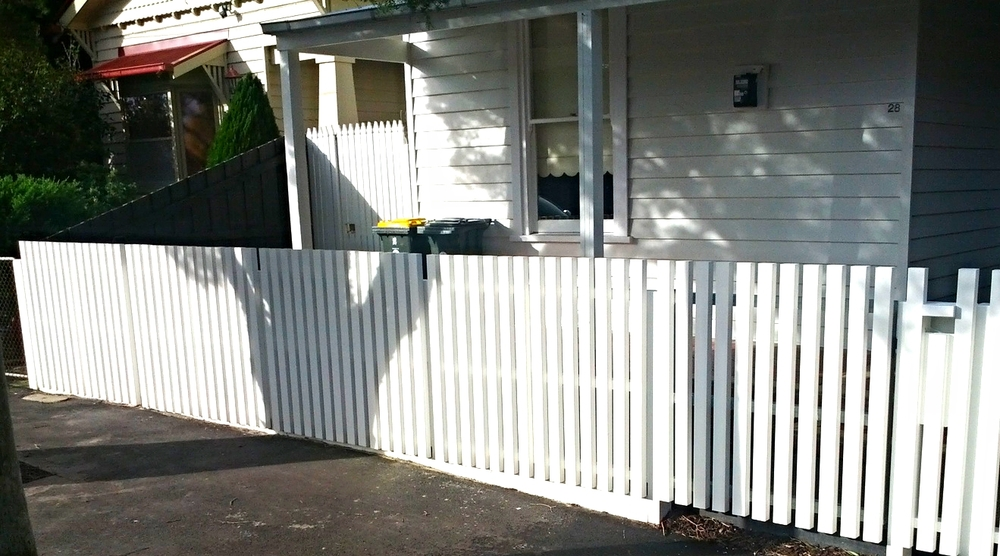 Natural Gardeners Melbourne landscaping construction fence