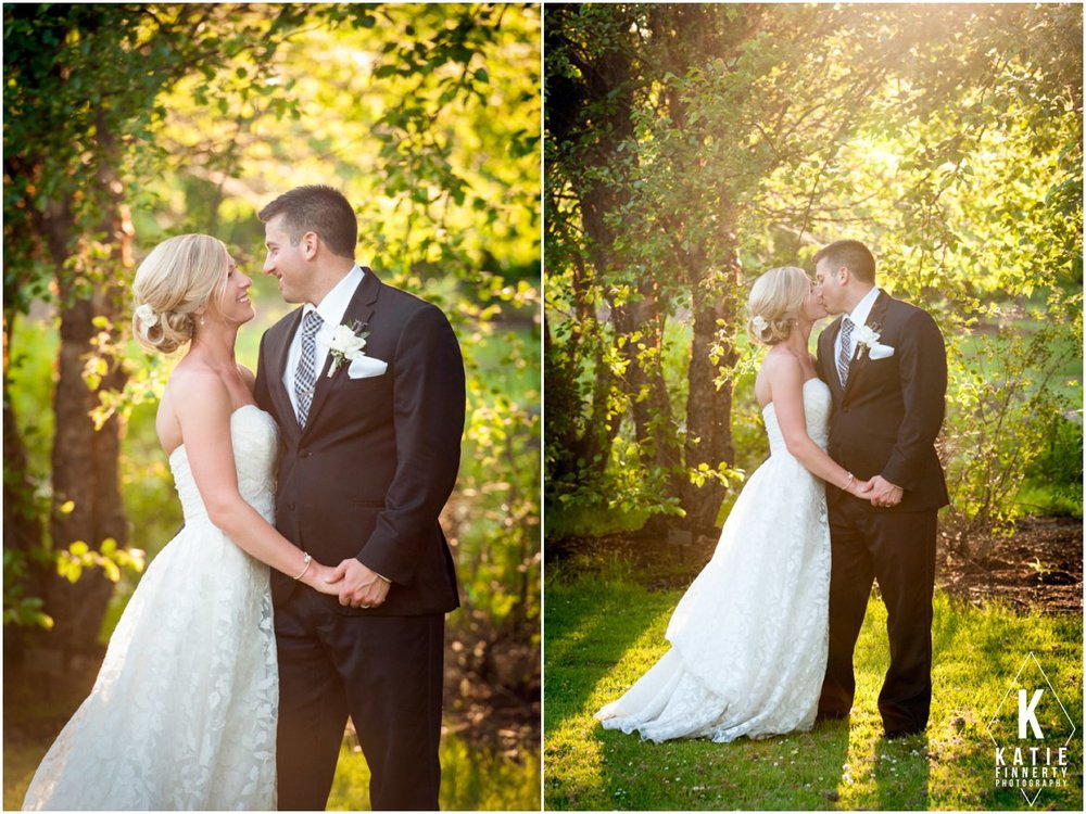 Webster Arboretum Sunset Wedding