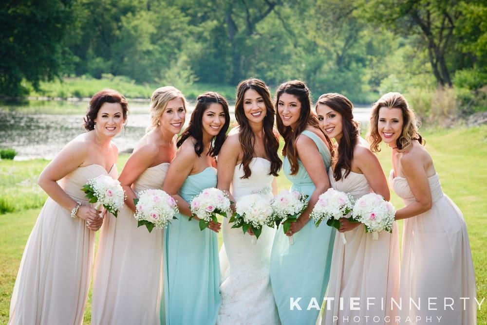Pastel Mixed Color Bridesmaids Dresses