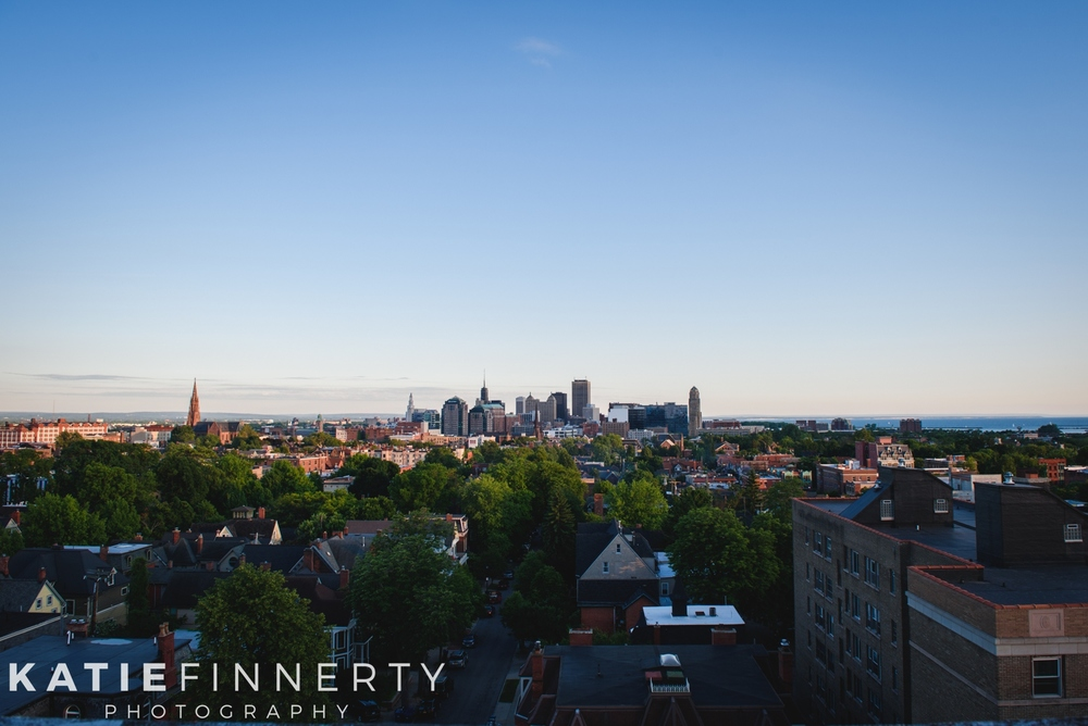 Buffalo NY Skyline Engagement Session