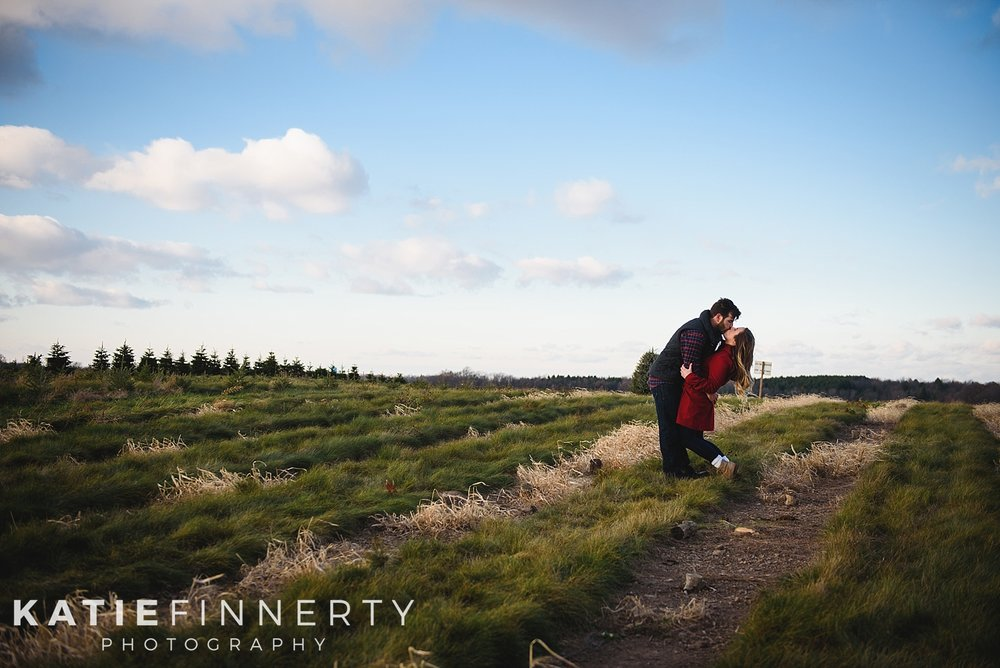 Rochester Christmas Tree Farm Engagement Session