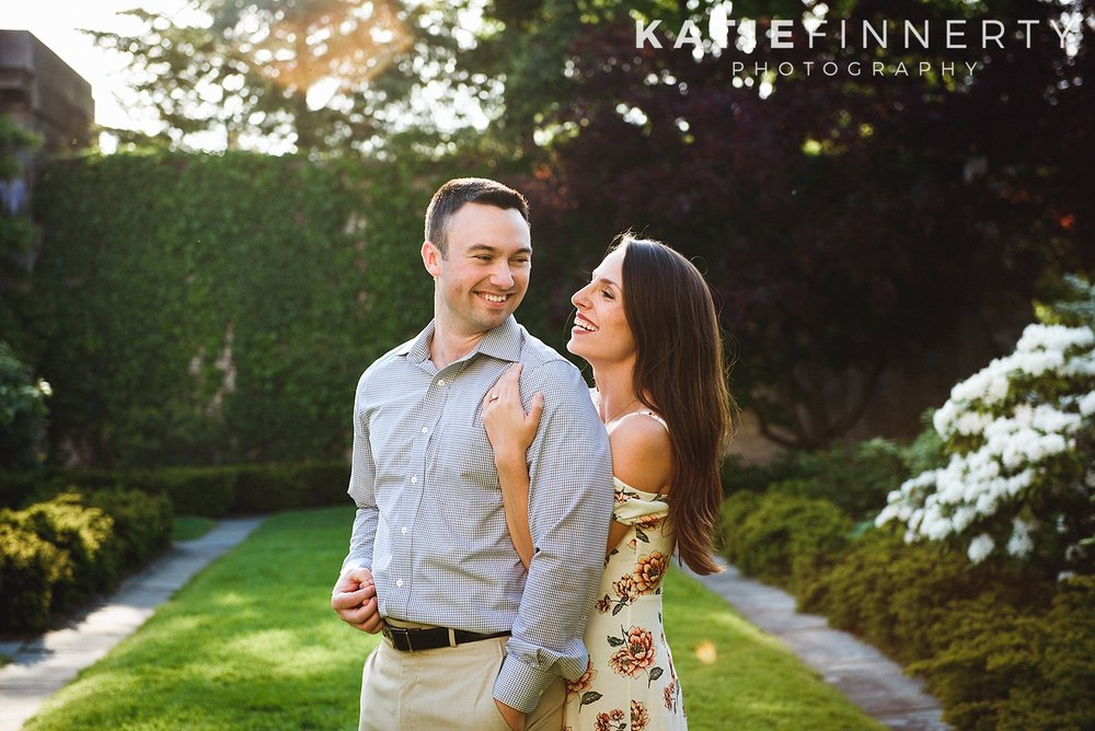 George Eastman Museum Rochester Garden Engagement Session