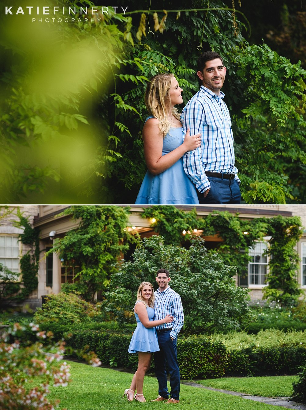 George Eastman House Gardens Engagement Session