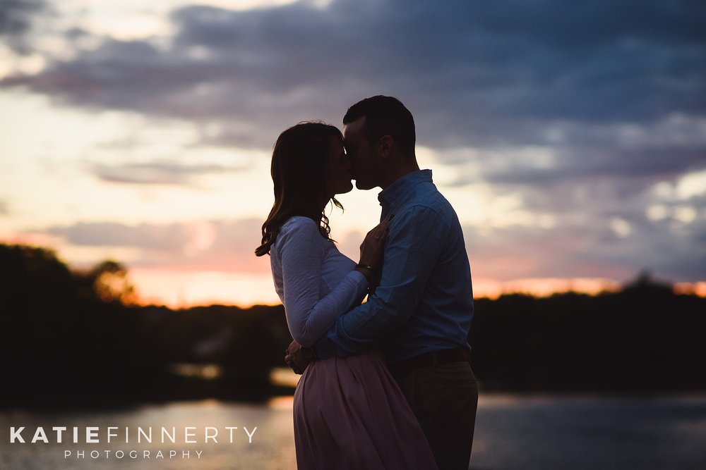 Peebles Island State Park Sunset Engagement Photography
