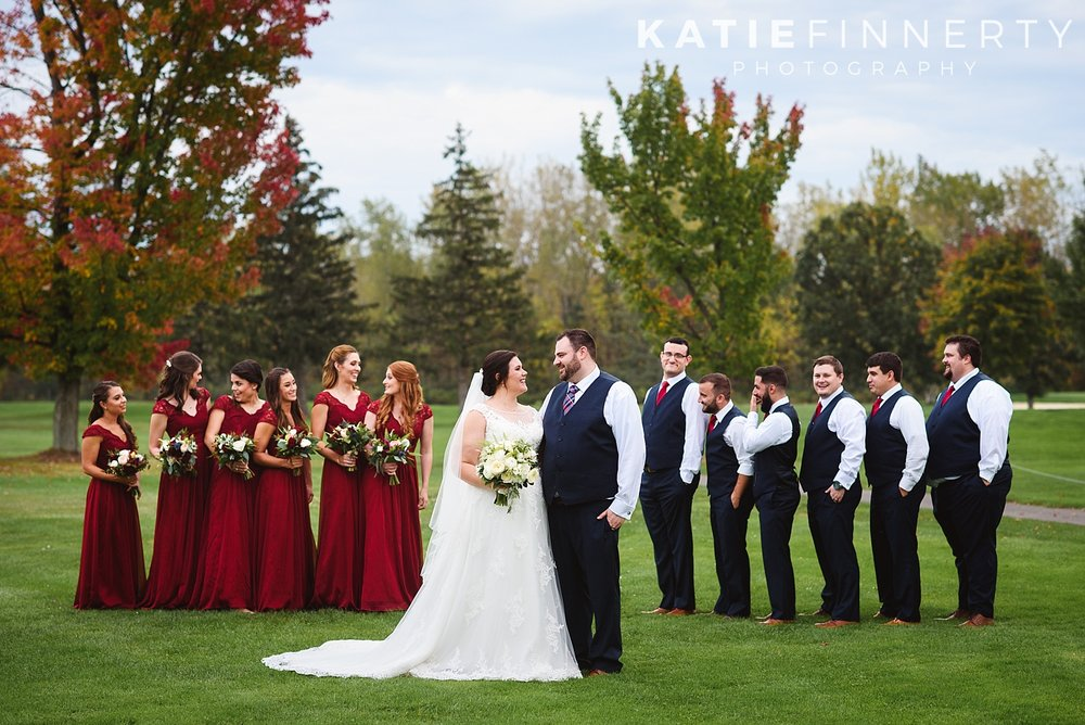 Deerfield Country Club Fall Rochester Wedding Photography