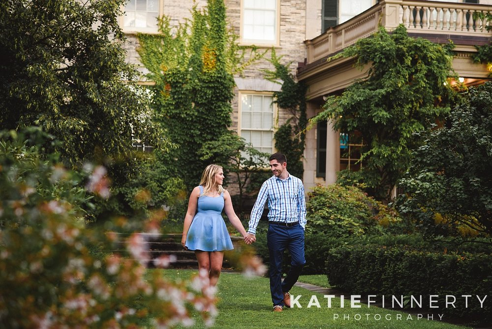 George Eastman Gardens Rochester Engagement Session Photography