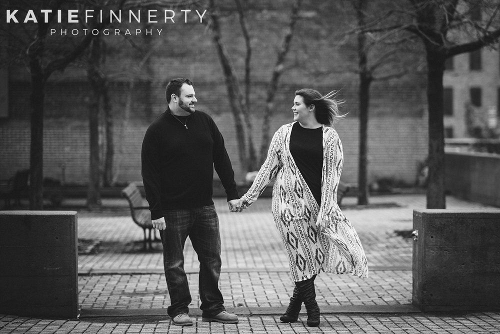 High Falls Rochester Winter Engagement Session Photography
