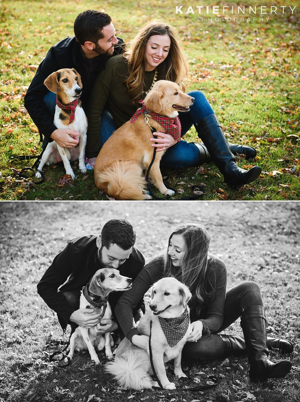 Buffalo Engagement Session with Dogs Photography
